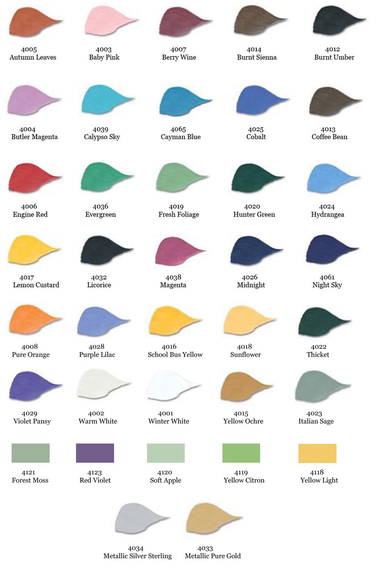 Folk art color chart acrylic paint - Folk Art Color Chart Acrylic Paint 6