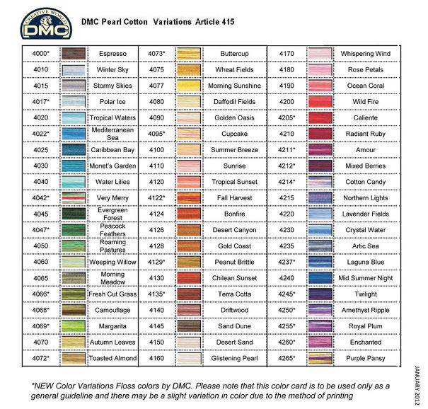 Dmc Metallic Pearl Cotton Article 315